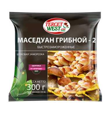 Смесь грибов быстрозамороженная очищенная «МАСЕДУАН ГРИБНОЙ - 2» Масса 300 г