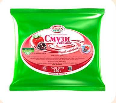 Смесь ягодная быстрозамороженная «Смузи: садовый дуэт» 250г