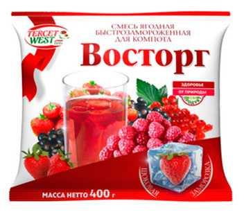 Смесь ягодная быстрозамороженная для компота «Восторг»