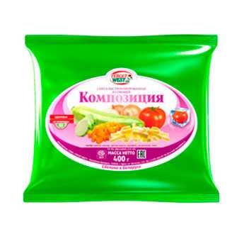 Смесь из овощей быстрозамороженная КОМПОЗИЦИЯ Масса 400 г