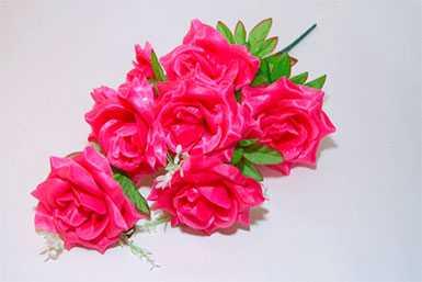 Букет искусственный №4 Роза атласная