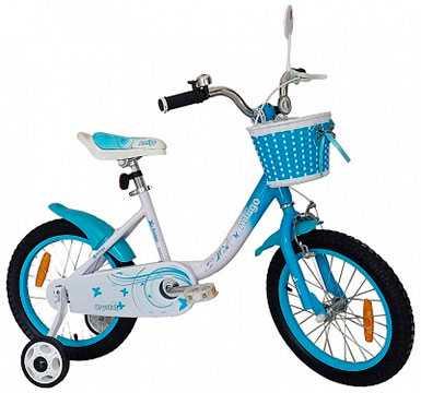 Велосипед детский для девочек Amigo-001 Crystal 16'
