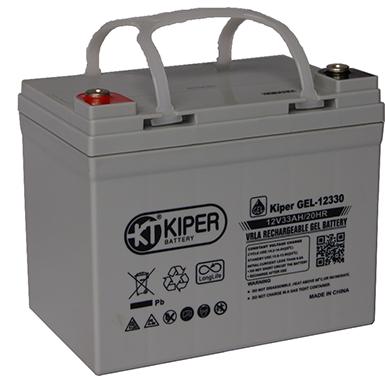 Аккумуляторная батарея Kiper GEL-12330 12V/33Ah 195x130x159(180) ДхШхВ - Kiper (Китай)