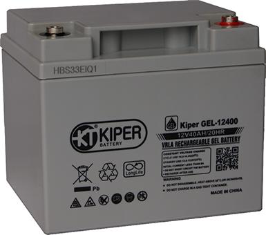 Аккумуляторная батарея Kiper GEL-12400 12V/40Ah 198x166x171(171) ДхШхВ - Kiper (Китай)