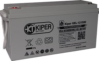 Аккумуляторная батарея Kiper GEL-121500 12V/150Ah 483x170x240(240) ДхШхВ - Kiper (Китай)