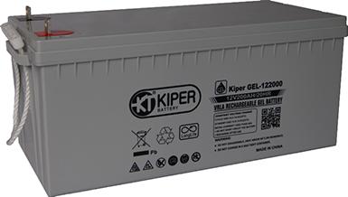 Аккумуляторная батарея Kiper GEL-122000 12V/200Ah 522x240x219(240) ДхШхВ - Kiper (Китай)