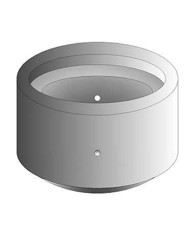Кольцо стеновое КСП-100.20 с 2-мя отверстиями