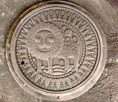 Крышка люка Знак зодиака ЛЕВ