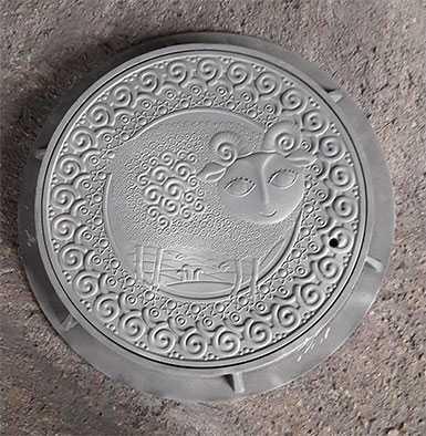 Крышка люка Знак зодиака ОВЕН