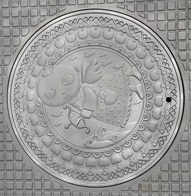 Крышка люка Знак зодиака СТРЕЛЕЦ