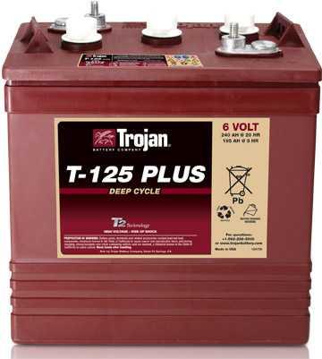 Аккумуляторная батарея тяговая Trojan T-125+ 6V/240Ah