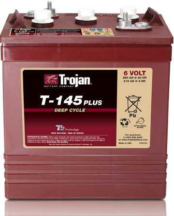 Аккумуляторная батарея тяговая Trojan T-145+ 6V/260Ah