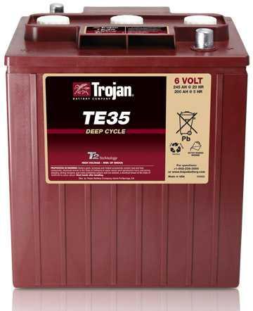 Аккумуляторная батарея тяговая Trojan TE35 6V/245Ah