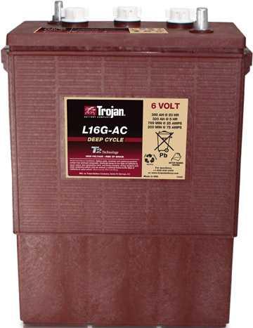Аккумуляторная батарея тяговая Trojan L16G-AC 6V/390Ah