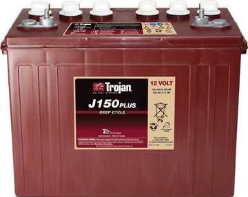 Аккумуляторная батарея тяговая Trojan J150+ 12V/150Ah