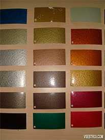 Полиэфирные порошковые краски Серия 77 (металлик бондированный)