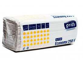 Полотенца бумажные V-сложения Grite Professional Economy 1 слойные