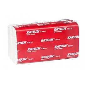 Полотенца бумажные листовые W-сложения Katrin Classic One Stop M2 2-х слойные