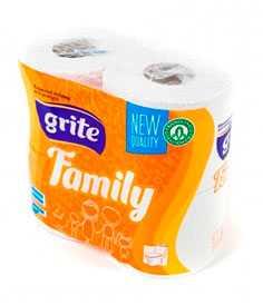 Туалетная бумага Grite Family 3сл. макулатура