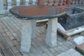 Стол 3 из камня