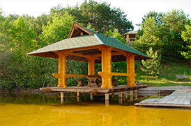 Беседка Спокойное Озеро