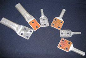 Зажимы аппаратные прессуемые типа А1А арматура контактная для ЛЭП и подстанций