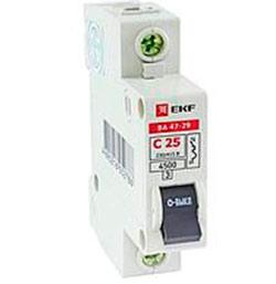 Выключатель автоматический ВА 47-29 Basic 1P 6А(C) 4,5кА EKF