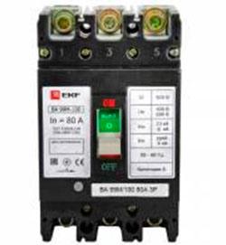 Выключатель автоматический ВА-99М 100/63А 3P 20кА EKF Basic