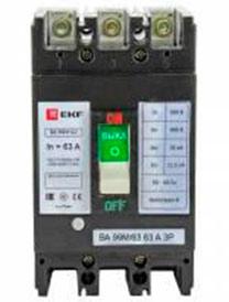 Выключатель автоматический ВА-99М 63/63А 3P 20кА EKF Basic