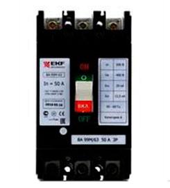 Выключатель автоматический ВА-99М 63/50А 3P 20кА EKF Basic