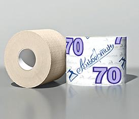 Бумага туалетная 70 м. с гильзой арт.17С1705, светлая