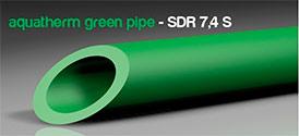 Трубы для питьевое водоснабжение и отопление green system SDR 7,4 S