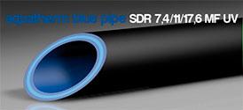 Трубы для промышленного водоснабженяе и отопления blue system SDR 7,4/11/17,6 MF UV