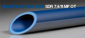 Трубы для промышленного водоснабженяе и отопления blue system SDR 7,4 / 11 MF OT