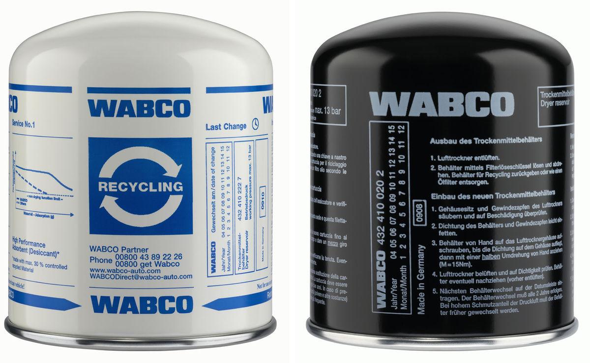 Фильтрующие элементы осушителя (катриджи) WABCO