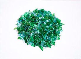 Полиэтилентерефталат вторичный ПЭТ-хлопья сине-зеленые