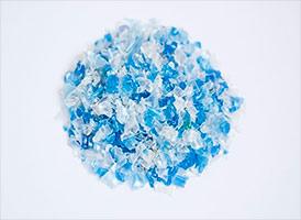 Полиэтилентерефталат вторичный ПЭТ-хлопья прозрачно-синие