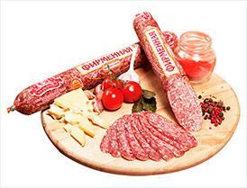 Колбаса Фирменная сырокопченая салями высший сорт