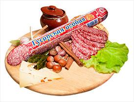 Колбаса Гусарская особая сырокопченая салями высший сорт