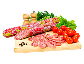 Колбаса Царская сырокопченая салями высший сорт