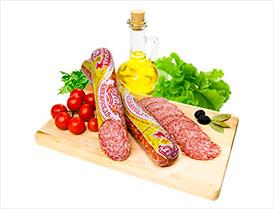 Колбаса Княжеская сырокопченая салями высший сорт
