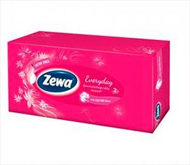 Косметические салфетки Zewa Everyday, 1*100 шт