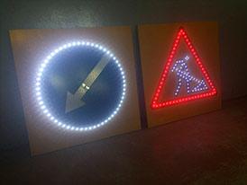 Светодиодные дорожные знаки индивидуального проектирования