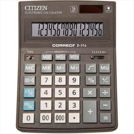 Калькулятор Citizen Correct D-316