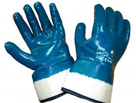 Перчатки рабочие нитриловые, размер 10 (механически стойкие перчатки, трикотажные полностью облитые нитрилом, манжет- жесткая крага)