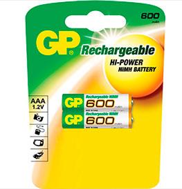 Аккумулятор GP 80AAAHC-BC2PET-G AAA 800 (1,2в 800мАч), NI-MH