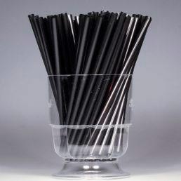 Трубочки для мартини 125*5 черные