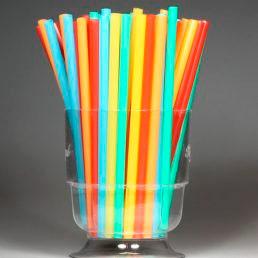 Трубочки прямые цветные 240*8
