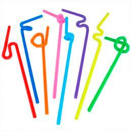 Трубочки с изгибом 260*6 (длинная гофра)