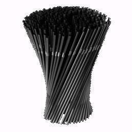 Трубочки с изгибом черные 210*5